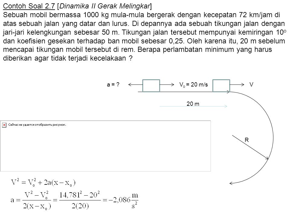 Contoh Soal 2.7 [Dinamika II Gerak Melingkar]